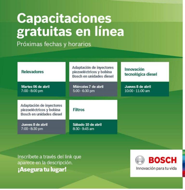 Nuevo ciclo de capacitaciones gratuitas Bosch